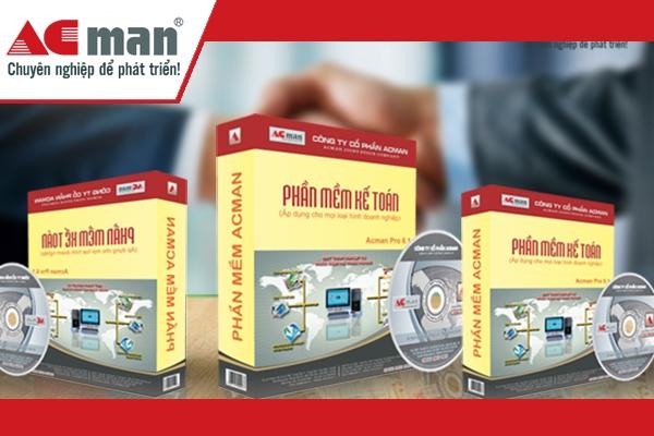 Phần mềm kế toán ACMan là nền tảng cho giải pháp ERP Quản trị doanh nghiệp