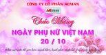 Công ty Cổ phần ACMan chúc mừng ngày Phụ nữ Việt Nam 20-10-2021