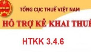 Thông báo về việc Nâng cấp ứng dụng Hỗ trợ kê khai tờ khai mã vạch (HTKK) phiên bản 3.4.6