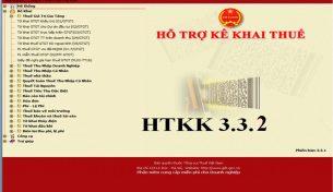 Cập nhật ứng dụng kê khai HTKK phiên bản 3.3.2