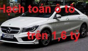 Cách hạch toán và trích đối với ô tô  vượt mức quy định 1,6 tỷ