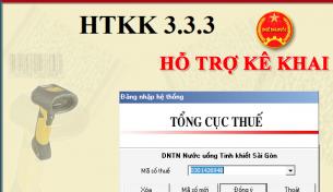 Cập nhật ứng dụng kê khai HTKK phiên bản 3.3.3