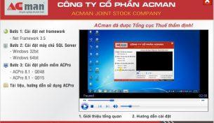Hướng dẫn sử dụng phần mềm nhà hàng khách sạn Acman Hotel 9.1