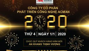 Công ty cổ phần ACMan thông báo lịch nghỉ tết dược lịch năm 2020