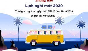 Thông báo Nghỉ du lịch toàn công ty năm 2020
