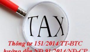 Tổng hợp điểm mới thông tư 151/2014/TT-BTC về thuế